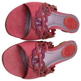 Rene Caovilla-Sandalen-Pink