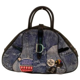 Dior-Saddle Bowler-Bleu