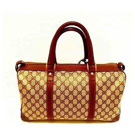 Gucci-Vintage GG Plus Boston / sac de voyage-Beige
