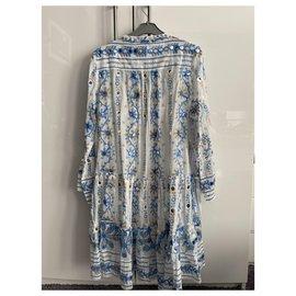Juliet Dunn-Dresses-White,Light blue