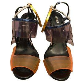 Fendi-Multicolored sandals-Multiple colors