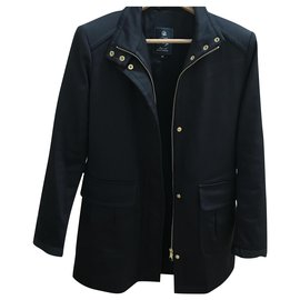 Fay-Coats, Outerwear-Navy blue