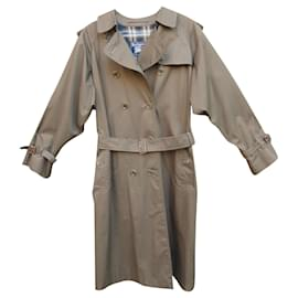 Burberry-womens Burberry vintage t trench coat 40-Dark brown