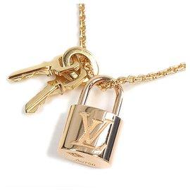 Louis Vuitton-Louis Vuitton Gold 18Collier clé K Lockit-Doré