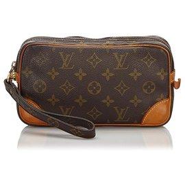 Louis Vuitton-Louis Vuitton Monogram Marron Marly Dragonne PM-Marron
