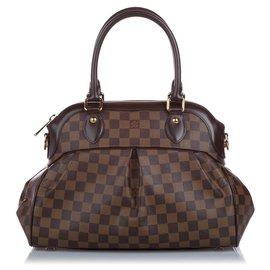 Louis Vuitton-Louis Vuitton Brown Damier Ebene Trevi PM-Brown