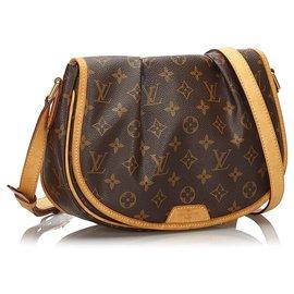 Louis Vuitton-Louis Vuitton Brown Monogram Menilmontant PM-Brown