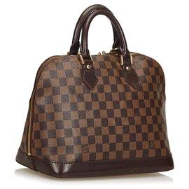 Louis Vuitton-Louis Vuitton Brown Damier Ebene Alma PM-Brown