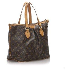Louis Vuitton-Louis Vuitton Brown Monogram Palermo PM-Brown