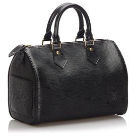 Louis Vuitton-Louis Vuitton Black Epi Speedy 25-Black