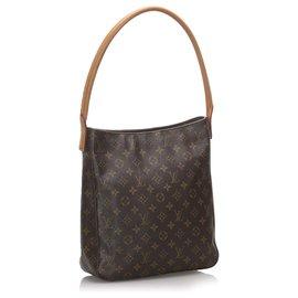 Louis Vuitton-Louis Vuitton Brown Monogram Looping GM-Brown