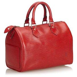Louis Vuitton-Louis Vuitton Red Epi Speedy 25-Red