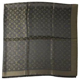 Louis Vuitton-Scialle Louis Vuitton Shine marrone-Marron