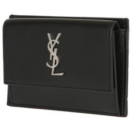 Saint Laurent-YSL wallet new-Black