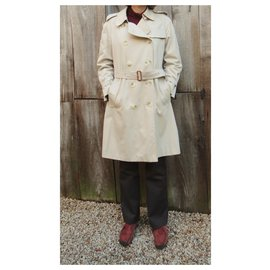 Burberry-womens Burberry vintage t trench coat 38/40-Beige