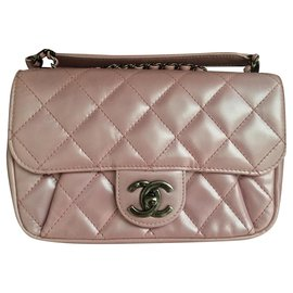 Chanel-Chanel mini sac timeless rose-Rose