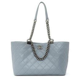Chanel-TIMELESS CLASSIC GRAY TOTE MEDIUM-Grey