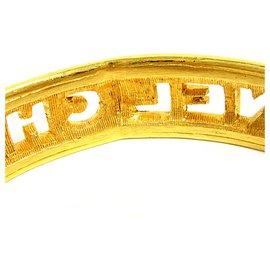 Chanel-Rare Logo Cutout Bangle-Golden