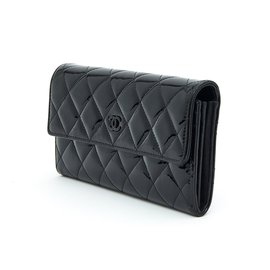 Chanel-timeless classic patent black-Black