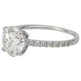 inconnue-White gold solitaire ring, diamond 1,89 carat.-Other