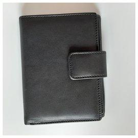 Blumarine-Leather wallet-Black