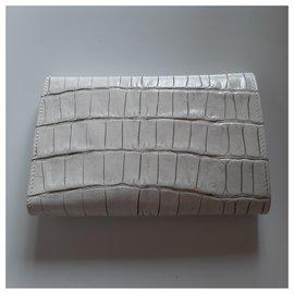 Blumarine-Leather wallet-White