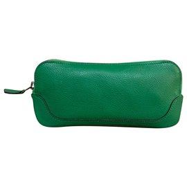 Hermès-Leather togo purse-Green