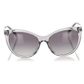 Tiffany & Co-Tiffany Gray Cat Eye Tinted Sunglasses-Grey