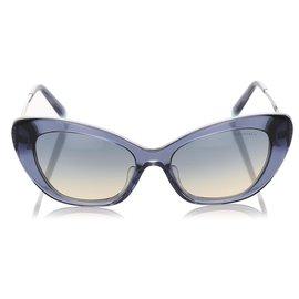 Tiffany & Co-Tiffany Blue Cat Eye Tinted Sunglasses-Blue