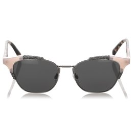 Valentino-Valentino Pink Square Tinted Sunglasses-Pink,Other,Grey