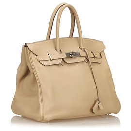 Hermès-Hermes Brown Swift Birkin 35-Marron,Beige