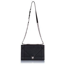 Dior-Sac à bandoulière en cuir Dior Diorama noir-Noir
