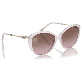 Tiffany & Co-Tiffany White Cat Eye Tinted Sunglasses-White
