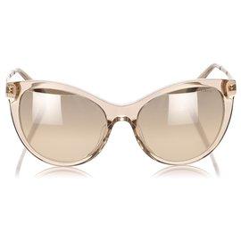 Tiffany & Co-Tiffany Brown Cat Eye Tinted Sunglasses-Brown,Light brown