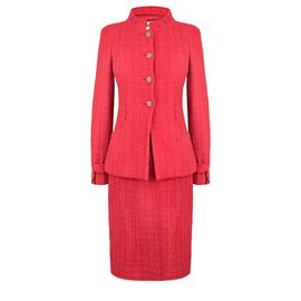 Chanel-iconic Paris- Bombay tweed suit-Red