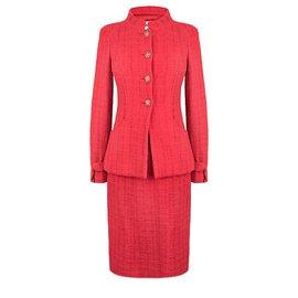 Chanel-emblématique Paris- Bombay tweed costume-Rouge