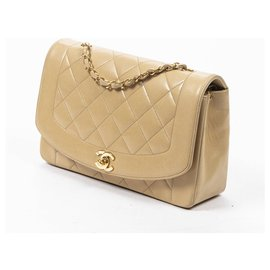 Chanel-CHANEL - Sac Diana 26-Beige