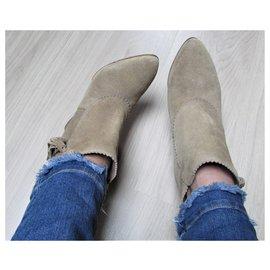 Comptoir Des Cotonniers-Ankle Boots-Beige