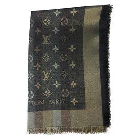 Louis Vuitton-Scialle Louis Vuitton So Shine marrone-Marron