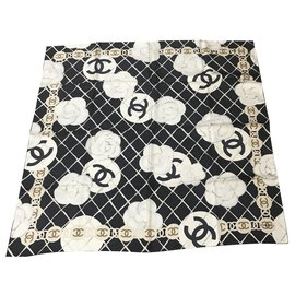 Chanel-Foulard Chanel nero-Black