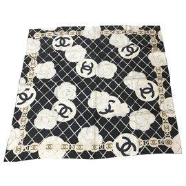 Chanel-Foulard Chanel Nero-Schwarz