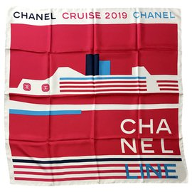 Chanel-Chanel cruise scarf-Multiple colors