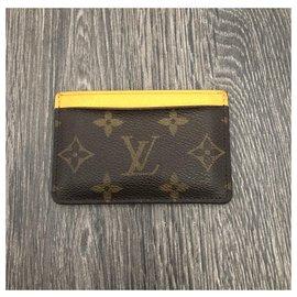 Louis Vuitton-titulaire de la carte-Marron