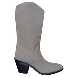 Chloé-Boots-Beige,Cream