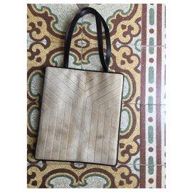 Yves Saint Laurent-A small YSL bag-Beige