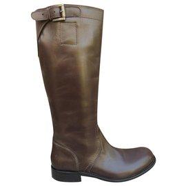 Jil Sander-Jil Sander p riding boots 36-Dark brown