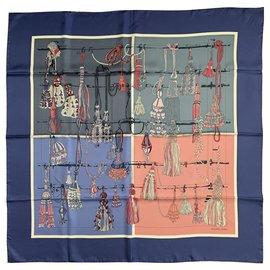 Hermès-Seiden Schals-Mehrfarben