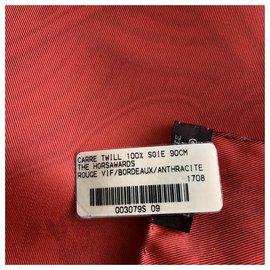 Hermès-Schals-Rot