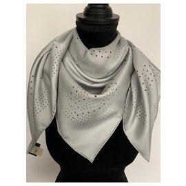 Hermès-Scarves-Grey