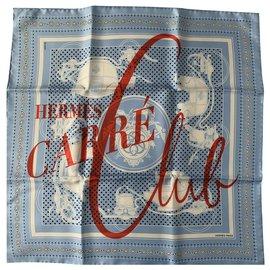 Hermès-Seiden Schals-Blau